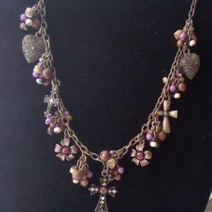 Vintage Premier Design Charm Necklace.